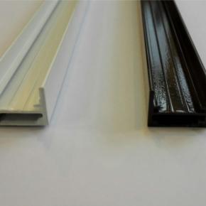Профиль усиленный направляющей плиссе внутренний(экструдированный алюминий)