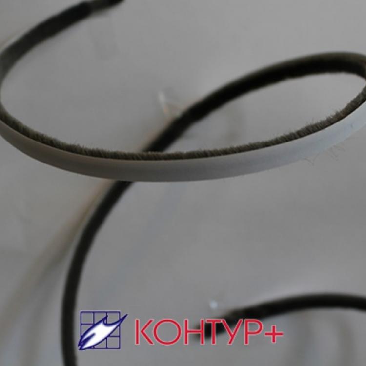 Щеточный уплотнитель самоклеющийся высота ворса 12мм и 6мм