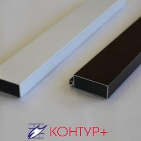 Рамный профиль для дверей 52 х 20 мм(экструдированный алюминий)